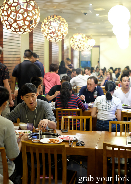 Dining room at Yass Korean BBQ Buffet in Strathfield Sydney