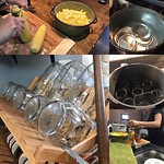 Forgot to post last night - Emily and I were channeling our inner pioneer woman skills. We tried canning our own corn! We want to be able to grow seasonal fruits and veggies and can fruit spreads, sauces, and raw veggies to have year round to cut down on