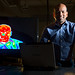 Dr. Wellesley Pereira, a senior research physical scientist with the Air Force Research Lab's (AFRL) Space Vehicles Directorate at Kirtland Air Force Base, N.M. Pereira currently researches hyper-spectral imaging, but his experience in astronomy and physics has led him to theorize that the Air Force may push the envelope of manned space exploration by employing ground-based laser arrays fired at spacecraft deploying sails to transfer the momentum of photons to the craft propelling it through space. (U.S. Air Force photo/J.M. Eddins Jr.)