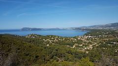 Vue sur l'anse du Cap Garonne