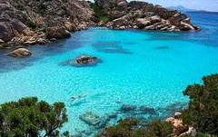 IN THE TRANSLUCENT SEAS of the La Maddalena archipelago, you're in another world...