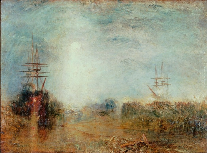 Whalers (Boiling Blubber) Entangled in Flaw Ice, Endeavouring to Extricate Themselves (c.1846), J.M.W. Turner (1775-1851). Accepted by the nation as part of the Turner Bequest, 1856. © Tate, London.