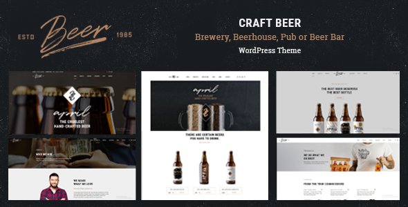 Craft Beer v1.0.4 – Brewery or Pub WordPress Theme