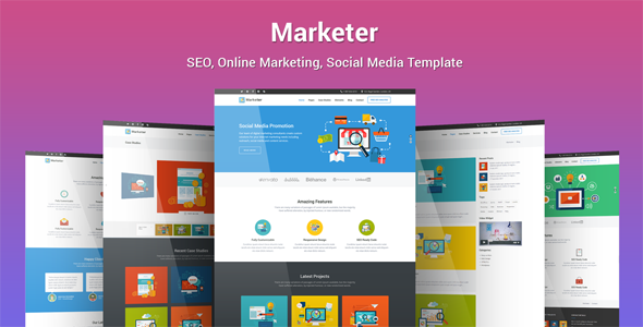 Marketer v1.0 – SEO, Online Marketing, Social Media Template