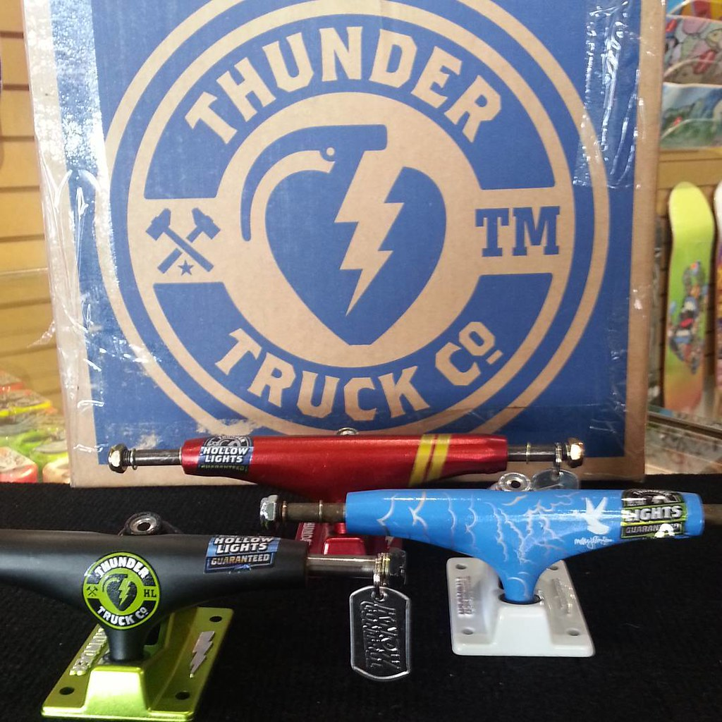 Some of the Thunder trucks newly arrived. #thundertrucks #calstreets #boarderlabs