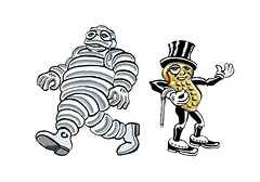 Michelin Man and Mr Peanut 0157b
