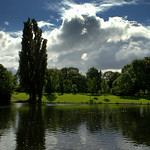 The lake at Haslam Park Preston