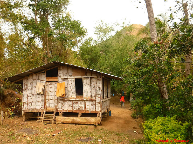 Nipa hut, a common type of home in the mountains
