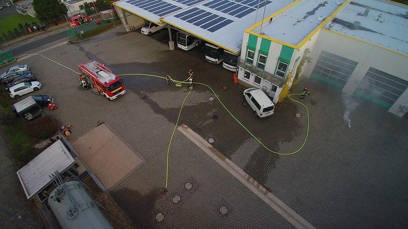 Feuerwehr Übung bei PVM