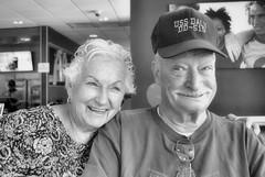 2017-08-10 (6) Ed's 95th birthday celebration at McDonald's in Bowie MD - Barbara - Bob