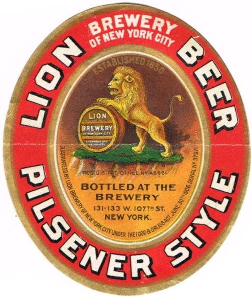 Lion-Pilsener-Style-Beer-Labels-Lion-Brewery-of-New-York-City--pre-Prohibition