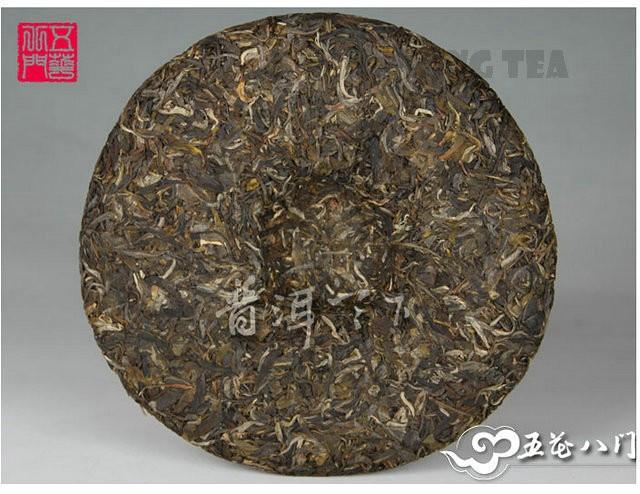 Free Shipping 2012 ChenSheng Beeng Cake Bing Long 500g YunNan MengHai Organic Pu'er Raw Tea Sheng Cha Weight Loss Slim Beauty