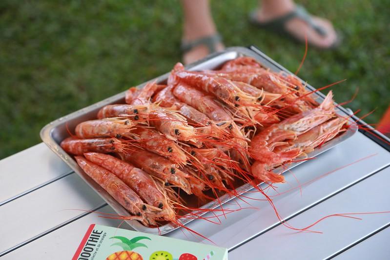 擺出來超澎湃的天使紅蝦