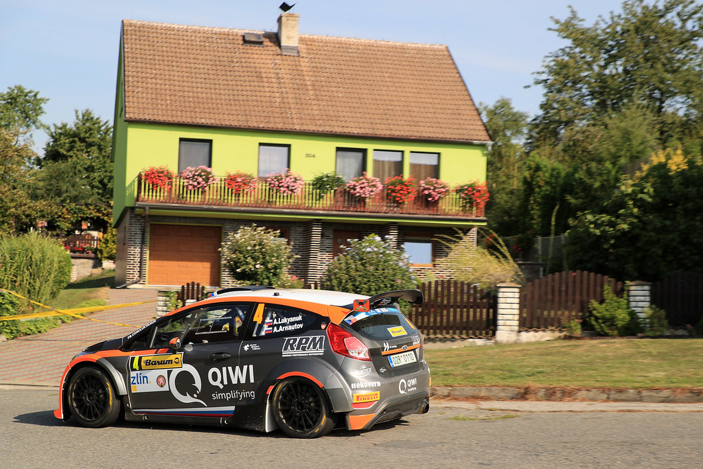 04 LUKYANUK Alexey (RUS) ARNAUTOV Alexey (RUS) Ford Fiesta R5 action during the 2017 European Rally Championship ERC Barum rally,  from August 25 to 27, at Zlin, Czech Republic - Photo Jorge Cunha / DPPI