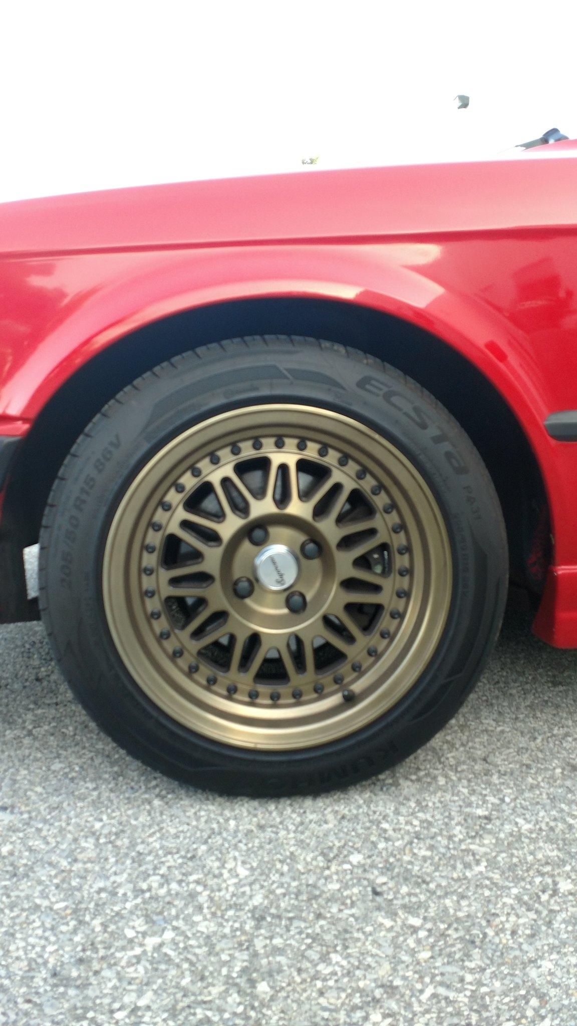 15x8 et25 varrstoen ds12 4x100 wheels with kumho ecsta tires