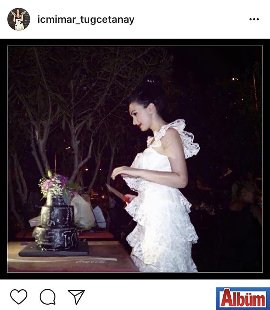 Artalya Mimarlık'ın genç ve güzel patronu İçmimar Tuğçe Tanay, doğum gününde bu fotoğrafı paylaştı.