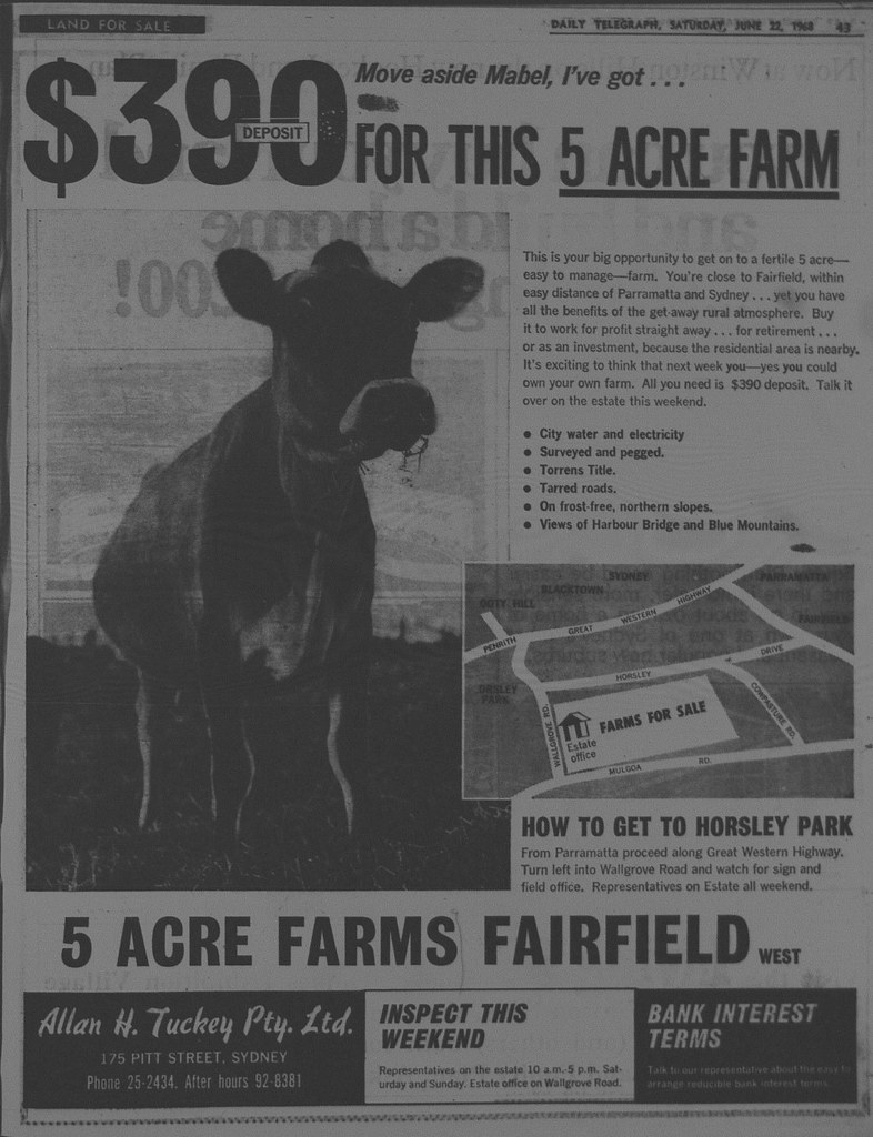 Horsely Park Ad June 22 1968 daily telegraph 43