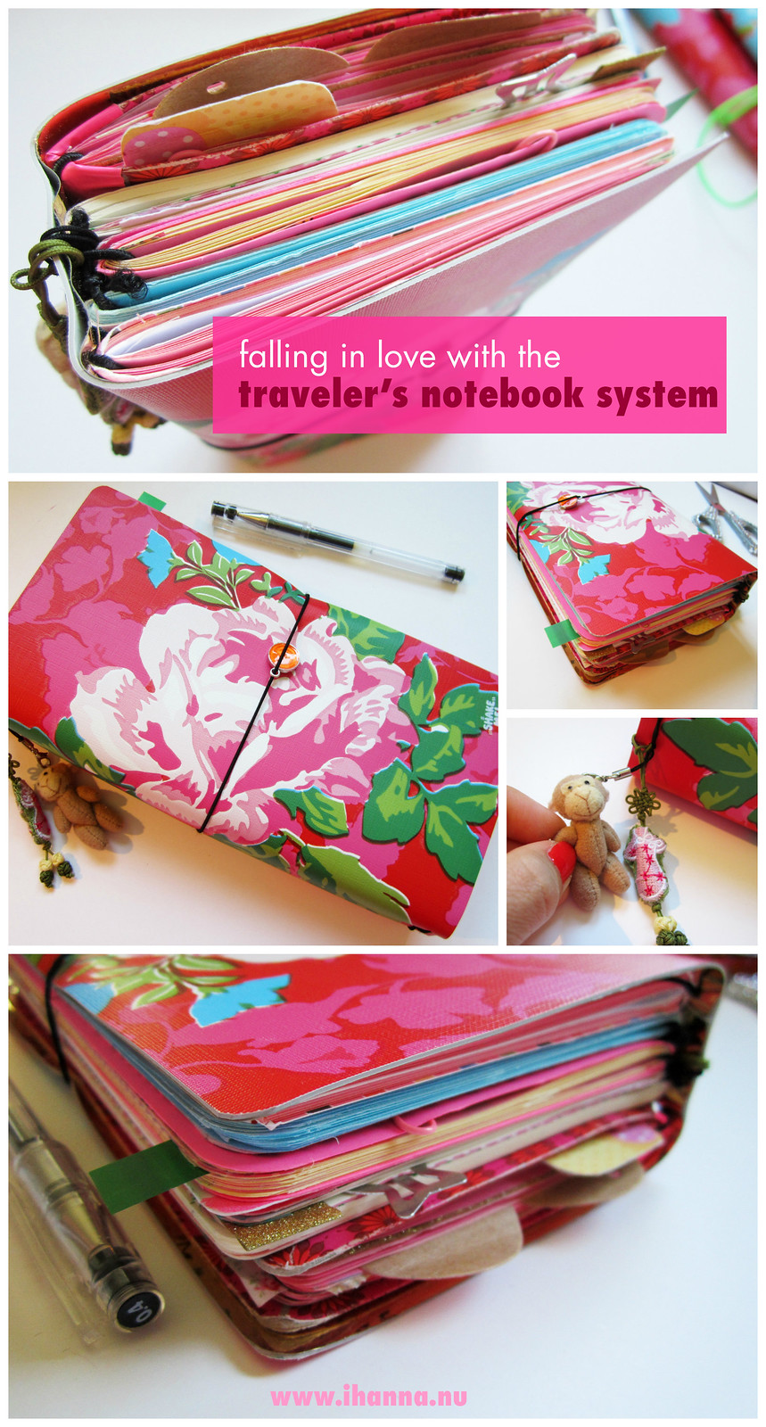 iHanna's DIY Traveler's Notebook - also watch the traveler's notebook flipthrough on YouTube