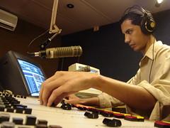Edson Hurtado en Radio Santa Cruz.
