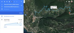 Pisciotta mountain walk satellite map w sea