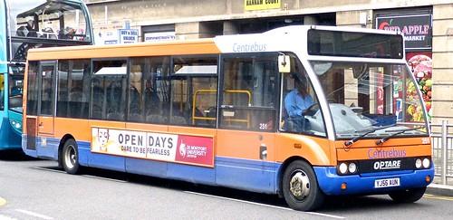 YJ56 AUN 'Centrebus' No. 251 Optare Solo M990 on 'Dennis Basford's railsroadsrunways.blogspot.co.uk'