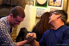 Sale & Milan arm wrestling