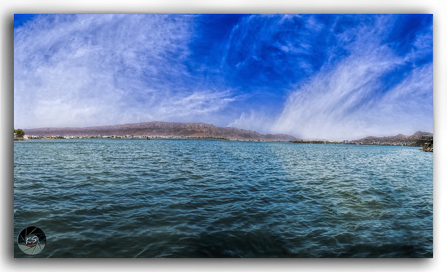 Panorama of beautiful Ana Sagar Lake in Ajmer, Rajasthan, India