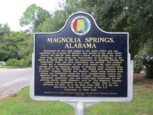 Magnolia Springs Alabama Marker (Obverse)