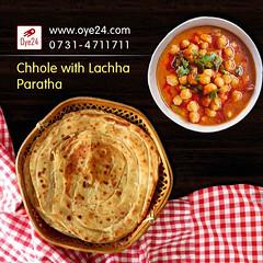 Chhole with Lachha Paratha