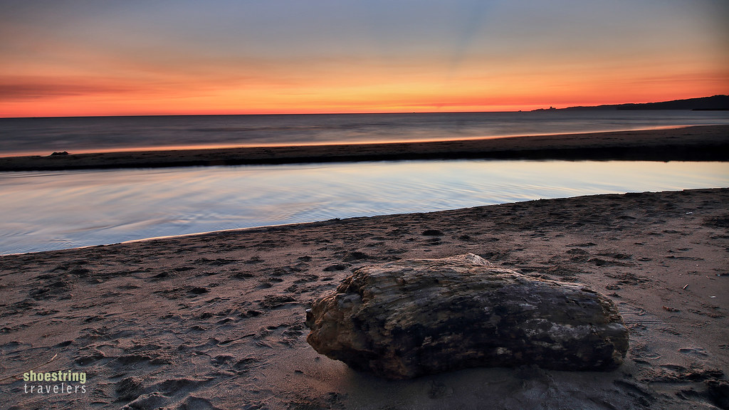 sunset at a beachfront in Bagac, Bataan