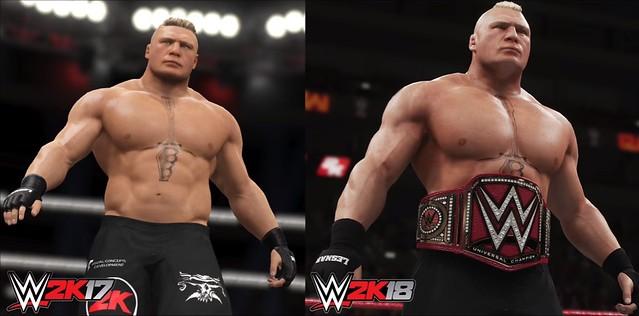 WWE 2K17 vs WWE Confronto grafico 2K18