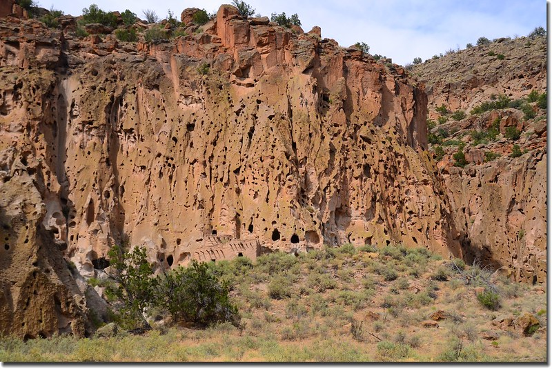 Rugged landscape in Bandelier National Monument