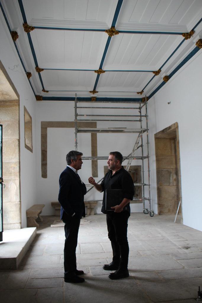 Presidente da Câmara Municipal visitou obras de remodelação do piso térreo do Mosteiro de S. Miguel de Refojos (2)