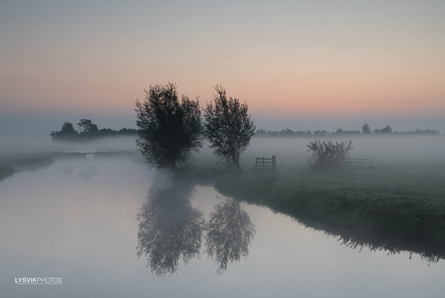 Landscape Donkse Laagten before Sunrise