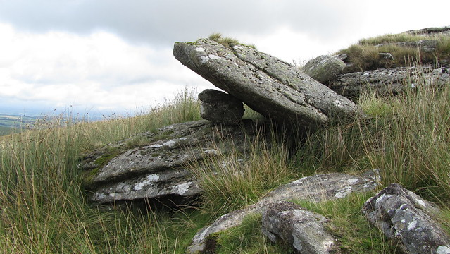 Wedged stone on Granate Tor