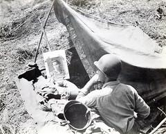 Marine in Foxhole, Guadalcanal, circa 1942