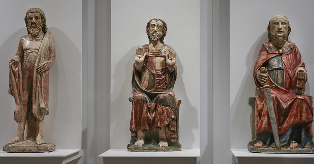 St. Bartholomew, Christ, 1301-1325, Master of the St. Bartholomew from the Vilhena Collection in MNAA, St.Paul, 1325-1350, Portuguese workshop