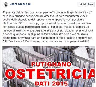 Uno dei post di Giuseppe Laera