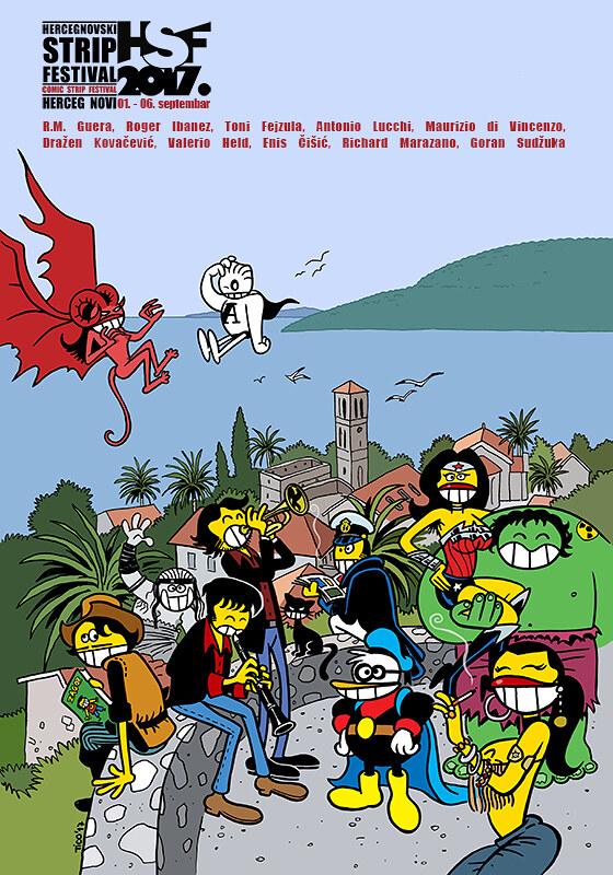 Плакат Тихомира Тикулина для 11 Херцегновского фестиваля комиксов