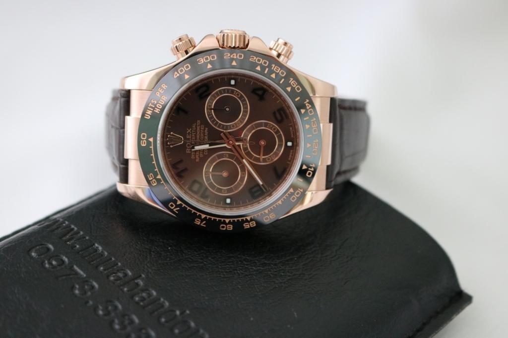 Đồng hồ rolex daytona 6 số 116515 – dây da – vàng hồng 18k – size 40mm