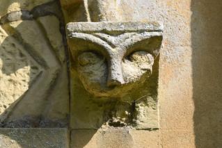half a head (Norman south doorway)