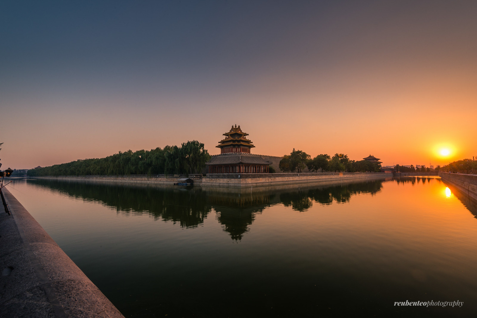Sunset at the Corner Tower of the Forbidden City