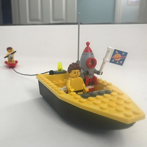 Found in the bathroom, I altered if a bit for the shot. LEGO wakeboarding. . . . #lego #wakeboarding #rocketboy #minifigures