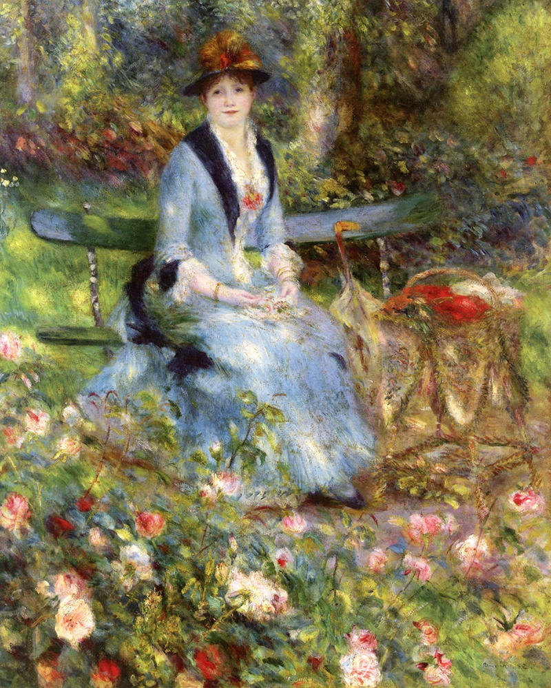Among the Roses by Pierre Auguste Renoir, 1882