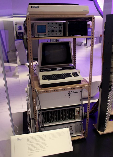 Commodore PET 8032, part of Shizuo Ishiguro's Electronic ocean model, Science Museum, London