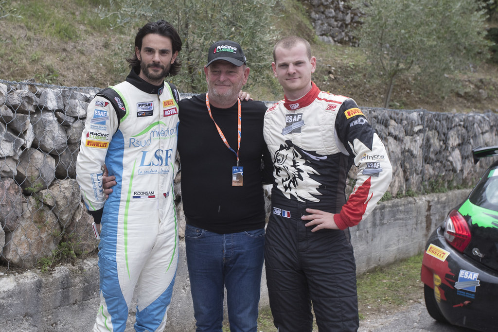 CONSANI Robert (FRA)  Citroen DS3 R5 CONSANI Stephane (FRA) Ford Fiesta R5 and their father ambiance Portrait during the 2017 European Rally Championship ERC Rally di Roma Capitale,  from september 15 to 17 , at Fiuggi, Italia - Photo Gregory Lenormand / DPPI