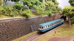 Diesel Railcar Approaches Gouttieres.