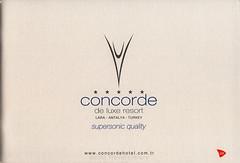Concorde de luxe resort - supersonic quality; 2011, 2015_1, Lara, Antalya prov., Turkey