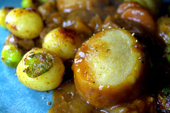 Beef Casserole & Dumplings, New Potato, Brussels sprout
