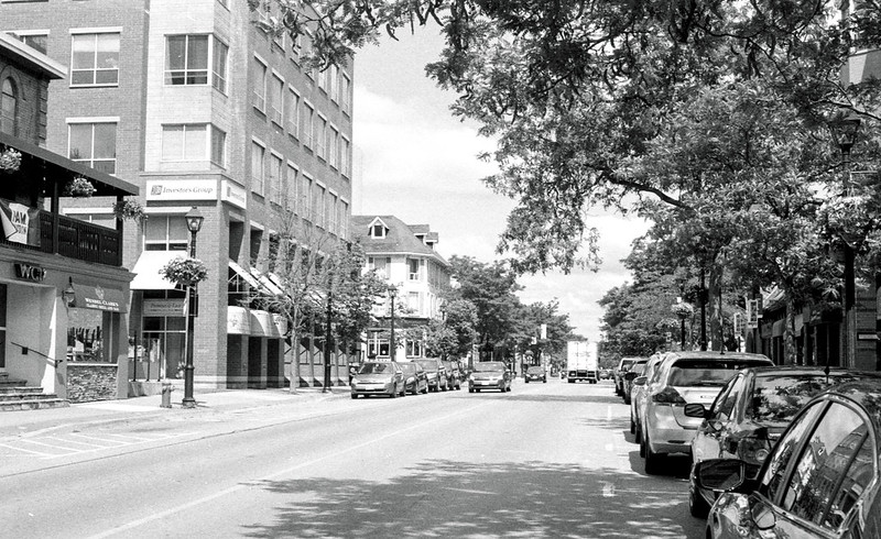 Downtown Burlington Looking North on Brant